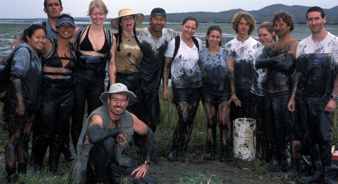 muddy group shot ucsb parasitology